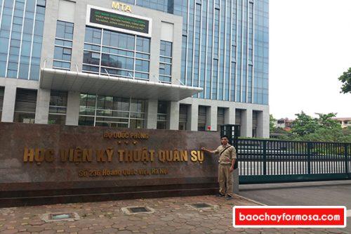 Lắp đặt thiết bị báo cháy Formosa tại học viện kỹ thuật quân sự Hà Nội